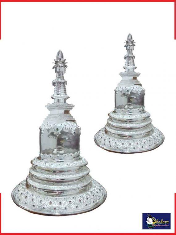 Silver Plated Karaduwa with stone and Glass