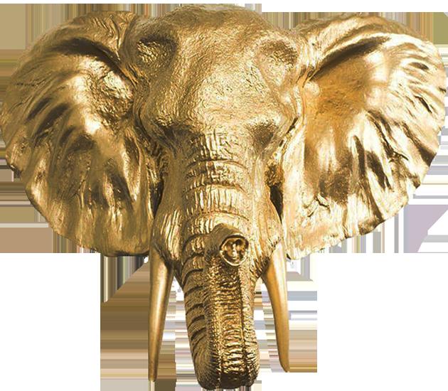 Shehara crafts Kandy, gold, brass works elephant